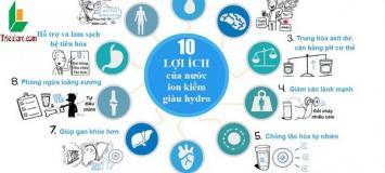 """Uống nước ion kiềm có tốt không –  những lợi ích """"thần kỳ"""" giúp thải độc"""